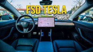 Amazing Tesla Full Self Driving Beta Test Drive (Spotify