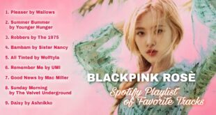 BLACKPINK ROSÈ - Spotify Playlist of Her Favorite Tracks