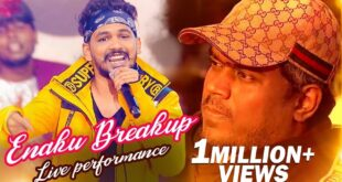 BREAK UP Song Live Performance by Hiphop Adhi | Yuvan