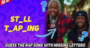 GUESS THE RAP SONG WITH MISSING LETTERS CHALLENGE! *HARD*
