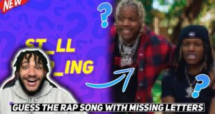 GUESS THE RAP SONG WITH MISSING LETTERS CHALLENGE!!! | Ricky