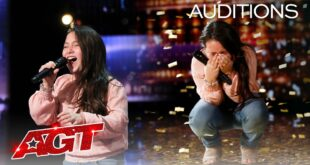 Golden Buzzer: 10-Year-Old Roberta Battaglia Sings Lady