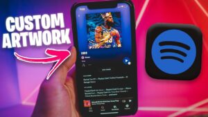 How To Change SPOTIFY PLAYLIST ARTWORK on iPhone &