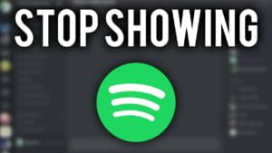 How To Stop Discord Showing What Spotify Song You're