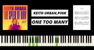 Keith Urban - One Too Many with P!nk (BEST PIANO TUTORIAL
