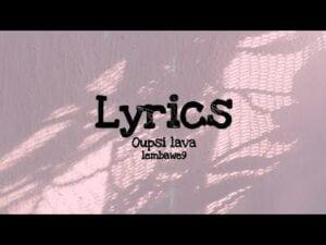Lembawe9: Oupsi_lava rap lyrics 🔥(Makan7esdoush)🔥🎵