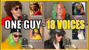 ONE GUY, 18 VOICES! (Post Malone, Britney Spears, Harry