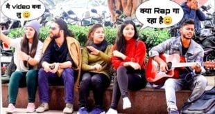 Randomly Rap Singing-2 Amazing Heartbeat Guitar Mashup Delhi