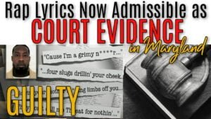 Rap Lyrics Can Now Be Used as EVIDENCE in Court? (Official