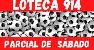 Resultado Loteca 914 PARCIAL dos jogos de SÁBADO - Placar