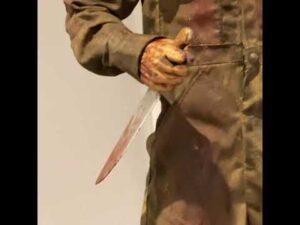 Rob Zombie custom Myers figure.  Halloween 2