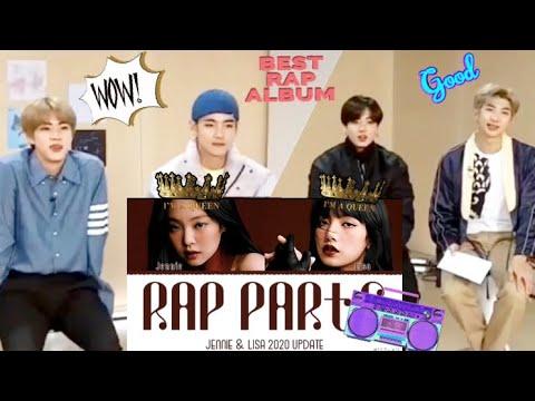[Fanmade]Bts Reaction JENNIE & LISA - Rap Parts - Easy