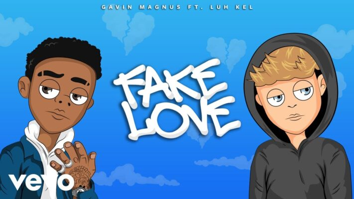 Gavin Magnus - Fake Love (Official Lyric Video) ft. Luh Kel