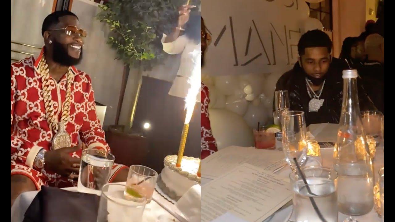 Gucci Mane Has Birthday Dinner w All His Rapper Friends Lil
