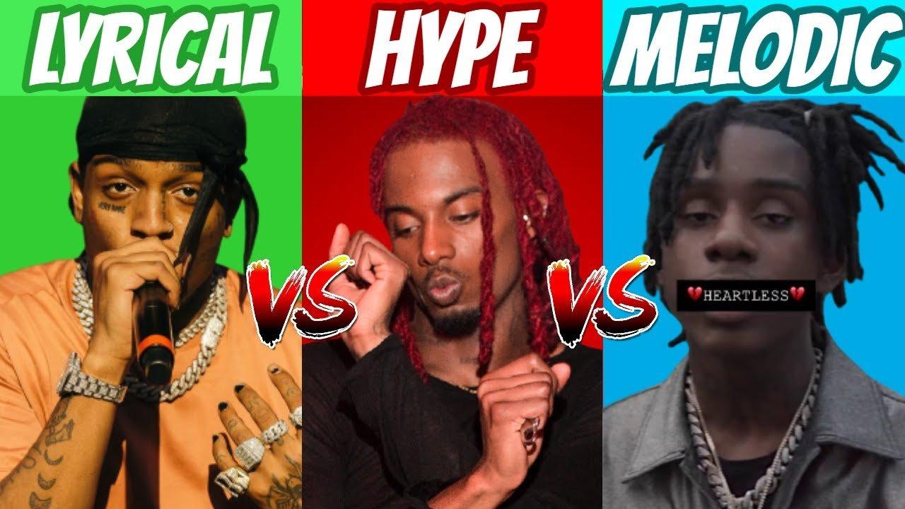 LYRICAL vs HYPE vs MELODIC Rappers!