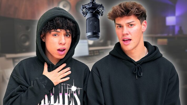 Noah Beck Tries RAPPING a DISS TRACK with Larray |