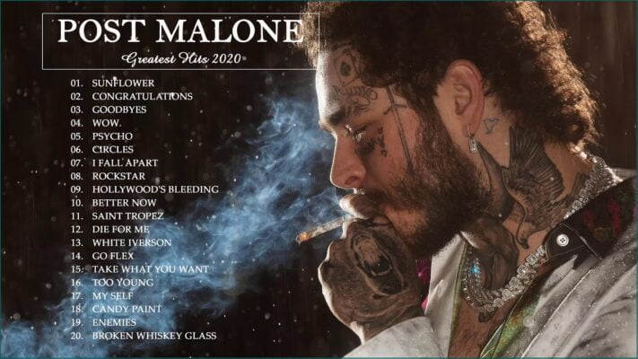 Post Malone Greatest Hits Collection - Sunflower,