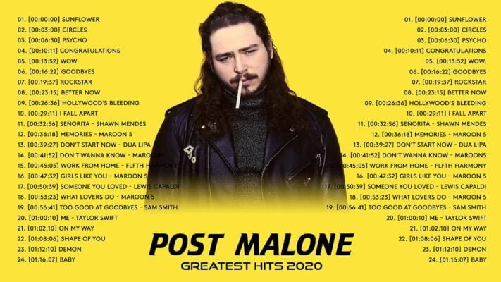 Post Malone Greatest Hits Full Album 2020 - Best Songs of