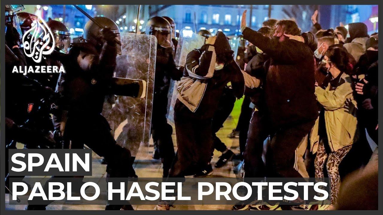 Protests turn violent in Spain over arrest of rapper Pablo