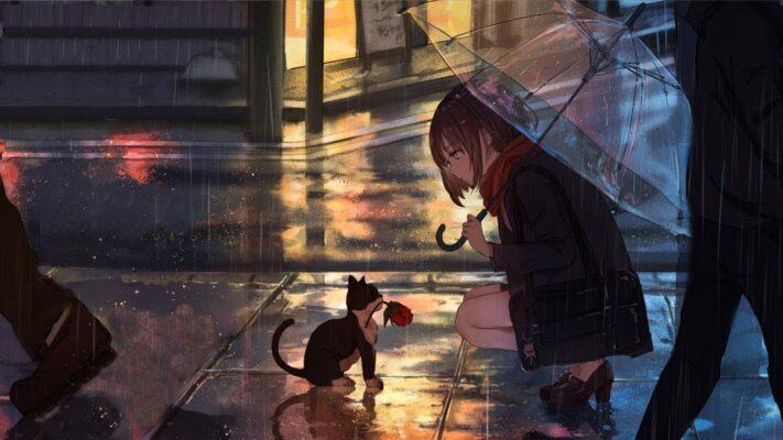 Relaxing Sleep Music + Rain Sounds - Peaceful Piano Music,