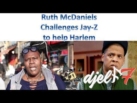 Ruth McDaniels calls upon Jay-Z to help Harlem residents