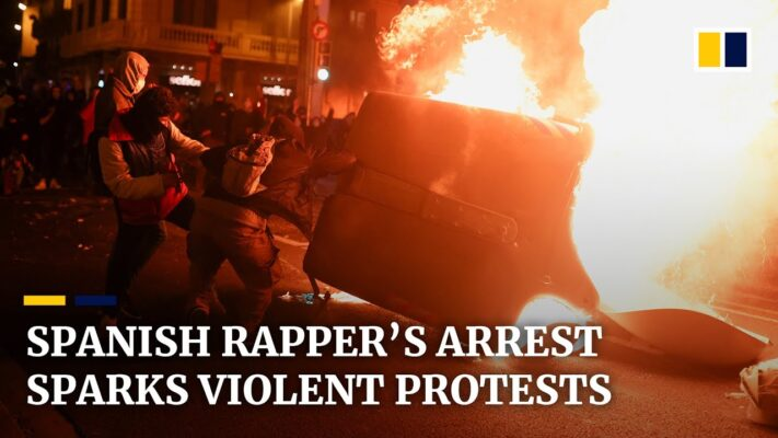 Violent protests in Spain after rapper Pablo Hasel arrested