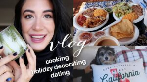 Weekend VLOG : FaceTime DATE, Holiday Decorating, Cooking