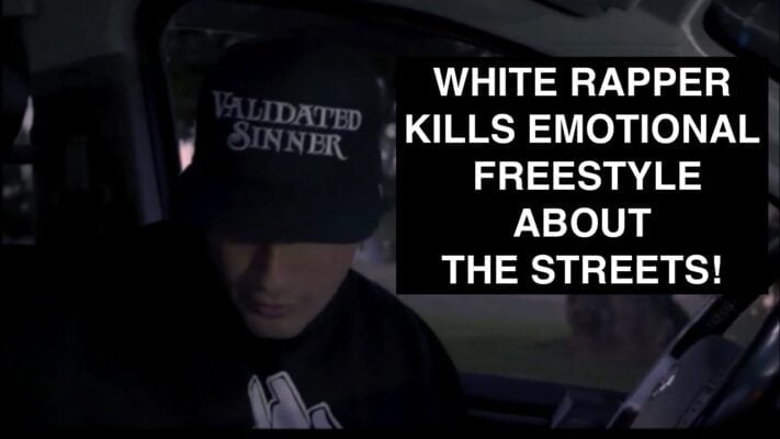 White Rapper Kills Emotional Freestyle About The Streets!